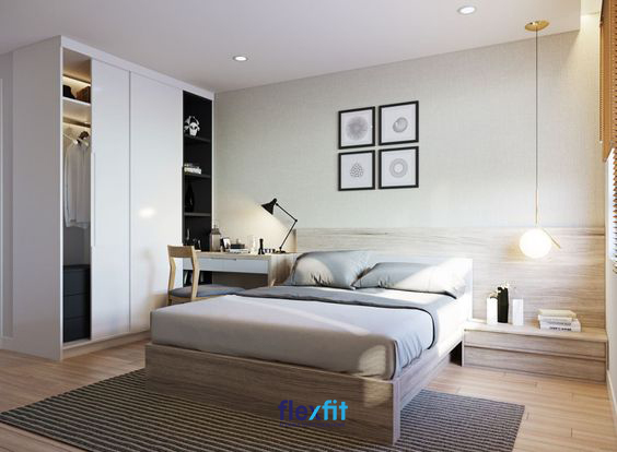 Với những căn phòng nhỏ bạn nên tối giản hóa đồ nội thất hoặc sử dụng những nội thất đa năng: tủ có kệ trang trí, giường có hộc chứa… để tiết kiệm diện tích mà vẫn giữ được vẻ đẹp tiện nghi, hiện đại