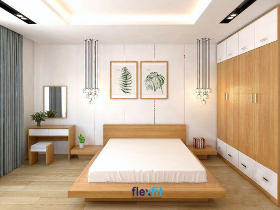Không trang trí quá cầu kỳ, kiểu cách, căn phòng mang lại vẻ đẹp giản dị nhưng vô cùng sang trọng, hiện đại