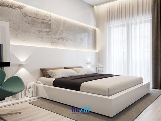Đối với cô nàng yêu thích vẻ đẹp đơn giản nhưng vẫn hiện đại và sang trọng thì nên lựa chọn màu sơn tường cũng như các nội thất màu trắng
