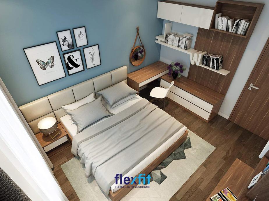 Không gian phòng ngủ nhỏ 10m2 nhưng đáp ứng mọi công năng nhờ sử dụng những nội thất thông minh và bài trí chúng một cách khoa học nhất