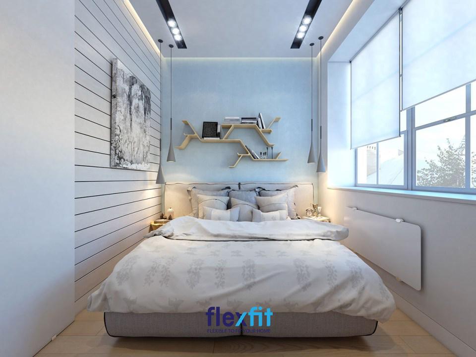 Hoặc đơn giản chỉ cần một chiếc giường đôi là đã rất đẹp rồi