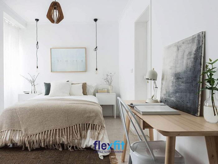 Với các căn phòng nhỏ bạn nên hạn chế đồ dùng để tránh cảm giác bức bí