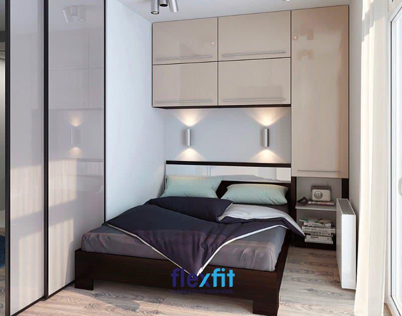 Tủ quần áo âm tường là một cách giúp tiết kiệm diện tích phòng hiệu quả và ấn tượng