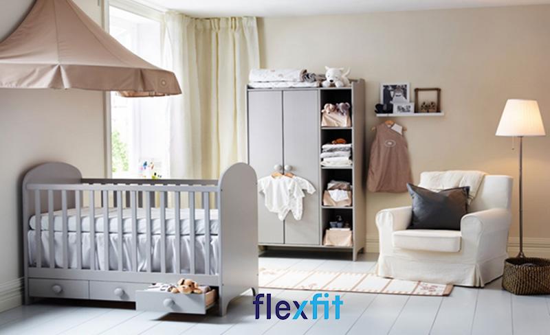 Mẫu thiết kế phòng ngủ cho bé trai sơ sinh đẹp nhẹ nhàng