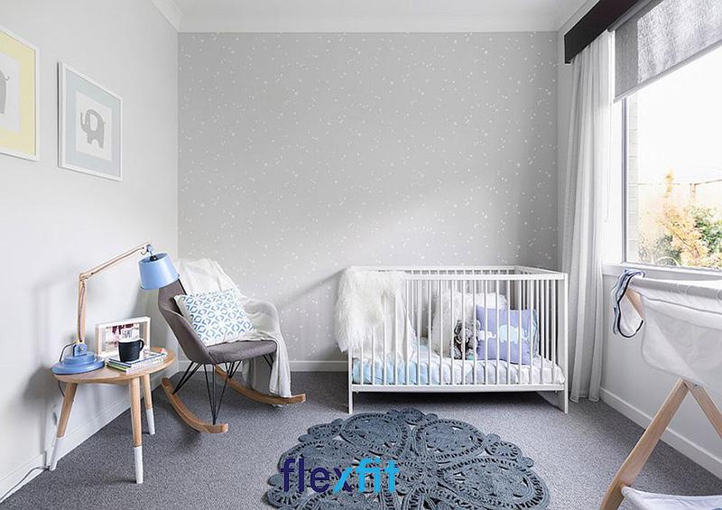 Mẫu thiết kế phòng ngủ bé trai sơ sinh theo phong cách tối giản
