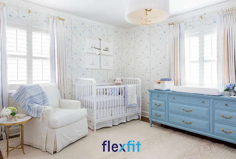 Mẫu thiết kế phòng ngủ cho bé trai sơ sinh đầy cuốn hút