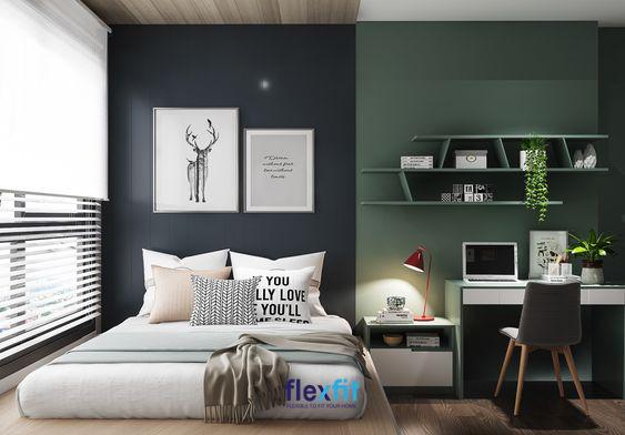 Căn phòng có ô cửa sổ khá lớn giúp mang lại nguồn ánh sáng tự nhiên, tạo cảm giác thông thoáng cho căn phòng.