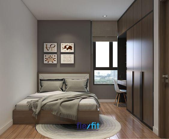 Căn phòng sở hữu thiết kế mộc mạc, giản dị nhưng hiện đại, tiện nghi.