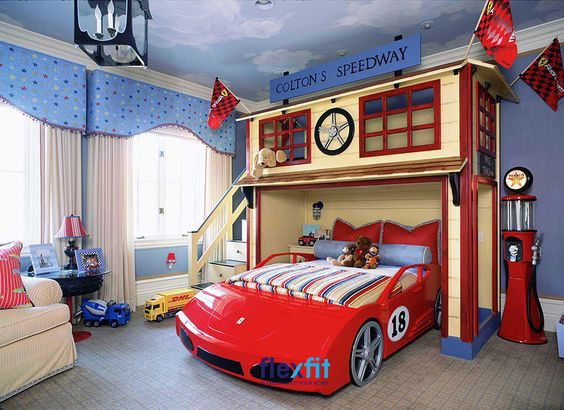 Sử dụng thiết kế giường đặc biệt sẽ góp phần giúp bạn tạo nên căn phòng mơ ước của bé.