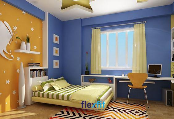 Sự kết hợp của gam màu vàng - xanh mang lại vẻ đẹp nổi bật cho căn phòng.