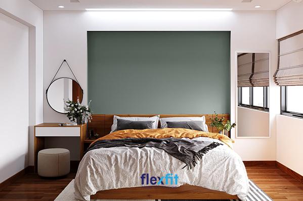 Tô điểm hương sắc thiên nhiên cho phòng ngủ với hai lọ hoa, cây cảnh nho nhỏ, xinh xinh nơi bàn trang điểm, tab đầu giường