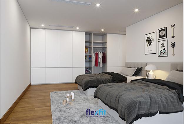 Để tăng tính nghệ thuật và vẻ đẹp sang trọng cho phòng ngủ, hãy thử treo một bài bức hình đen trắng họa tiết cổ điển như thế này