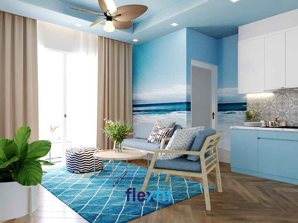 Xây dựng phòng khách phù hợp với chủ nhà mệnh Thủy nhận được nhiều quan tâm.