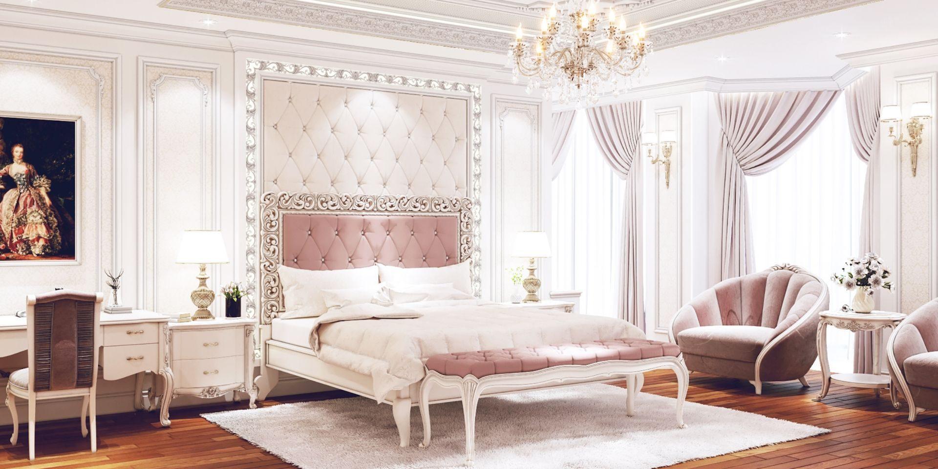 Nếu bạn là người yêu thích phong cách hoàng gia vương giả và những thiết kế nhẹ nhàng, đậm chất Tây phương, hãy trang trí căn phòng ngủ như thế này