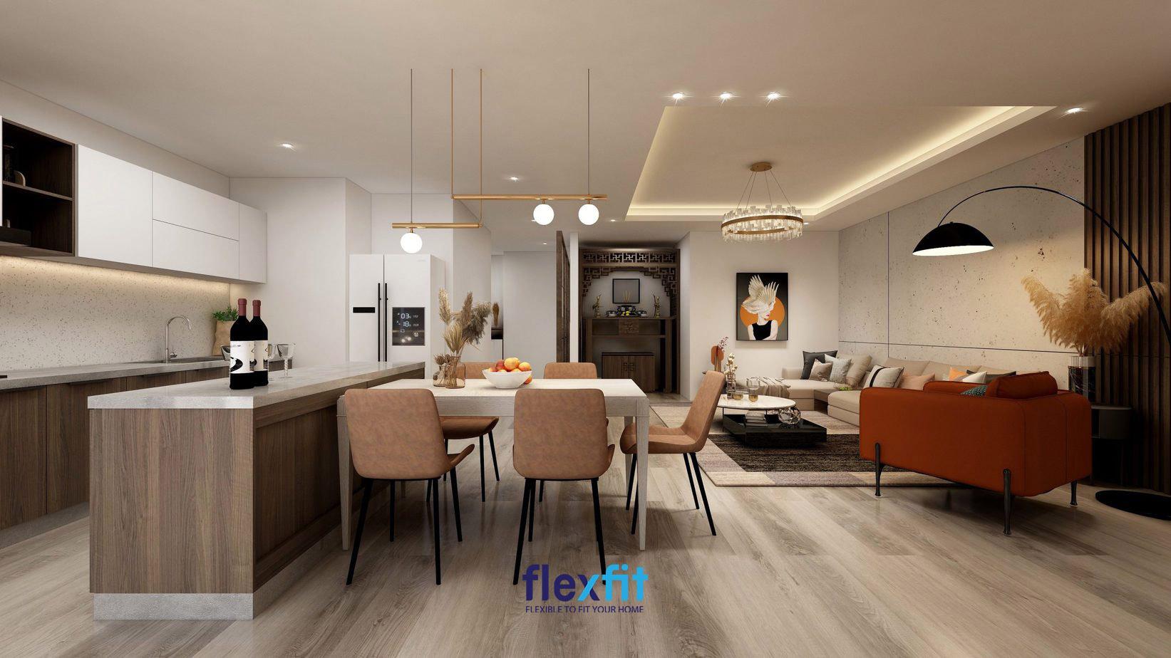 Bố trí nội thất bếp phù hợp đem đến tài lộc cho gia chủ mệnh Thổ.