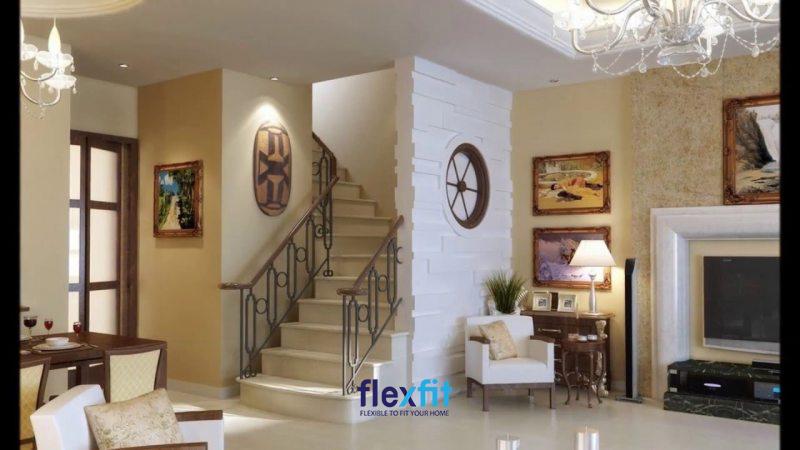 Vách ngăn thạch cao phòng khách đẹp tinh tế, bền, nhẹ và có khả năng cách âm, chống ẩm, chống cháy tốt