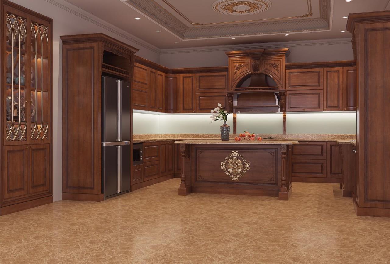 Kiểu thiết kế phòng bếp cổ điển sang trọng