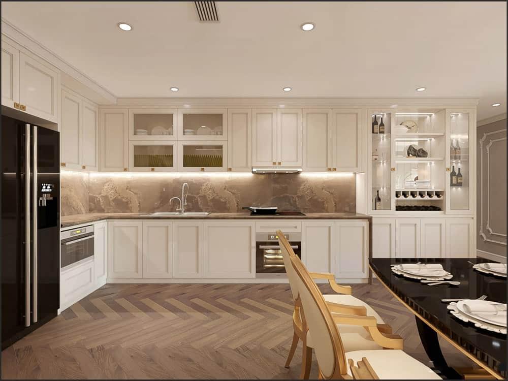 Nội thất phòng bếp đẹp kiểu tân cổ điển