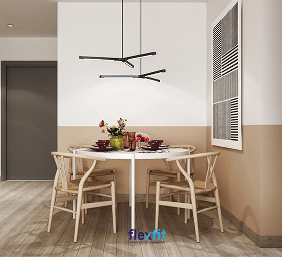 Chất liệu mộc được sử dụng trong bố trí nội thất phòng bếp của chủ nhà mệnh Hỏa.