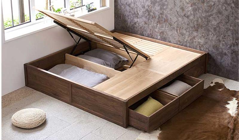 Mẫu giường có ngăn kéo phản nan cho bạn dễ dàng lấy đồ