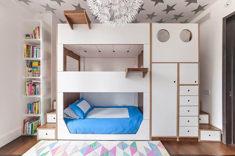 Mẫu giường tầng gỗ công nghiệp sáng tạo cho bé
