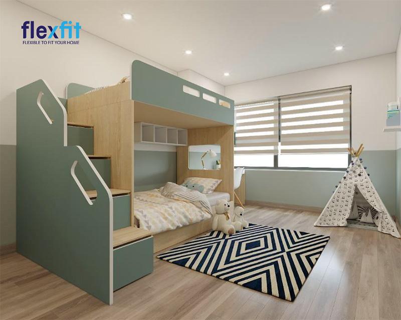 Mẫu thiết kế giường tầng có ngăn kéo đầy độc đáo